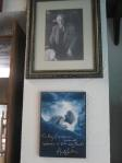 A photo of J. R. R. Tolkien as well as a picture of Gollum/Smeagol signed by the actor who played him in the movies, Andy Serkis.